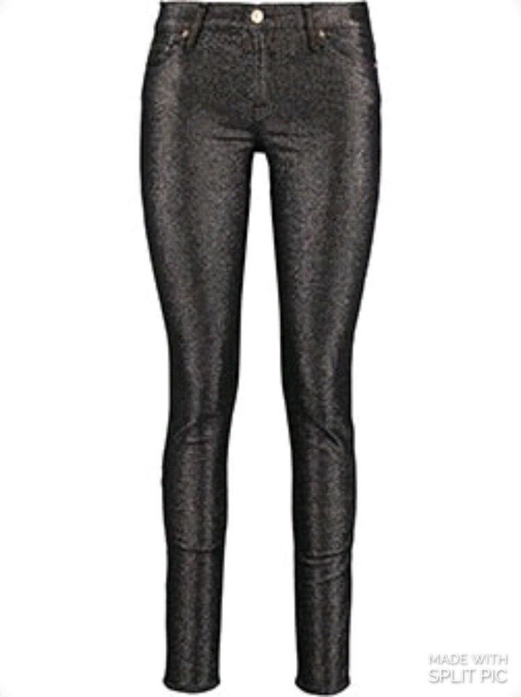 7 For Mankind Skinny Paillettes Jeggings Jeans-noir-w30
