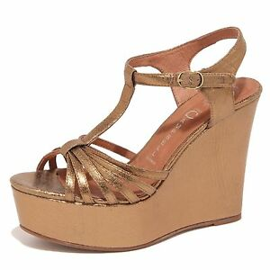 5791O sandalo zeppa JEFFREY CAMPBELL SWANSONG oro sandali donna sandals women [39] Br0Ejy