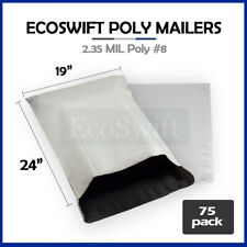 75 19x24 White Poly Mailers Shipping Envelopes Bags