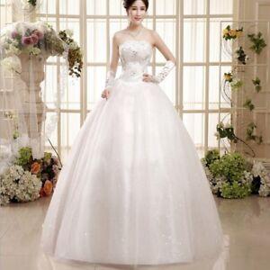 Details About Photo Studio New Half Chest Korean Bride Wedding Flat Pettiskirt Dress