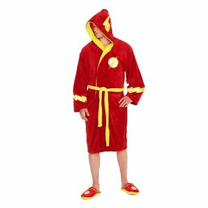 5055437915392 la giustizia Red Flash Vestaglia logo Accappatoio adulti ufficiale Il per per maschile Lega tqpwOExA