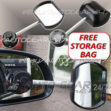 Car Van 4x4 Suck-it Suction Caravan Flat Glass Towing Extension Wing Mirror-cc35