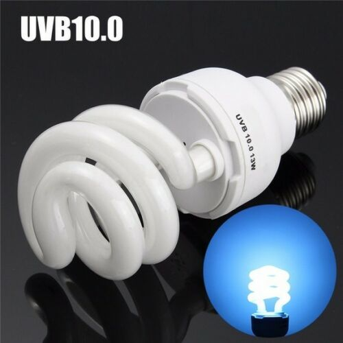 Reptile 5.0//10.0 UVB 13W Fluorescent Heat Compact Lizard Terrarium Lamp Bulb #dd