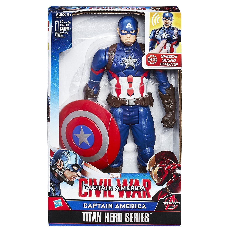 Captain America Civil War Titan Series Electronic Action Figure+Lights+Speech