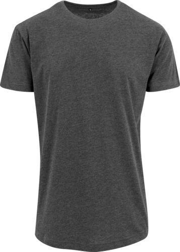 Construire votre marque homme en forme de long tee-shirt BY028-Manches courtes Décontracté en Coton T-Shirt