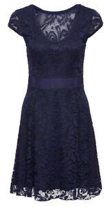 Damen Jersey-Kleid mit Spitze, Gr. 44/46, Blau, Neu | eBay