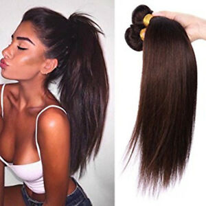 Remy-Unprocessed-Human-Hair-100-Brazilian-Virgin-2-Straight-Wave-Extensions