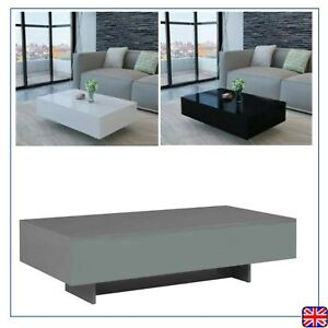 Details About High Gloss Coffee Table Sofa Sideend Table Modern Livingroom White Black Grey
