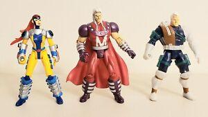 90s-Marvel-Toy-Biz-Lot-Of-3-X-MEN-Action-Figures-Jean-Grey-Magneto-Cable