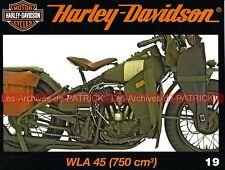 HARLEY DAVIDSON WLA 750 US Army 2ème Guerre Mondiale WW2 Money Shot Billy LANE