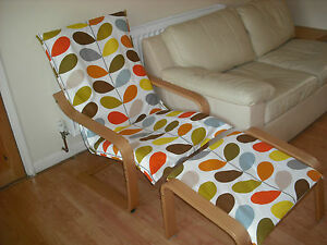 Image Is Loading Handmade Ikea ALME Poang Chair Cover Using Orla