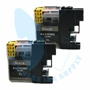 2-BK-LC203XL-LC201-compatible-Ink-Cartridges-for-Brother-printers-with-NEW-CHIP