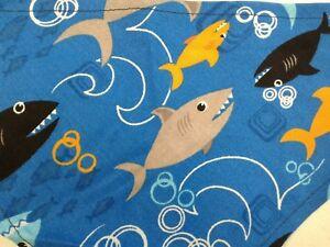 Bandana-Scarf-Tie-On-Slide-On-Sharks-Beach-Custom-Made-by-Linda-XS-S-M-L