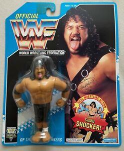 WWF-WWE-Hasbro-Wrestling-Headshrinkers-034-Samu-034-OVP-Top-Zustand