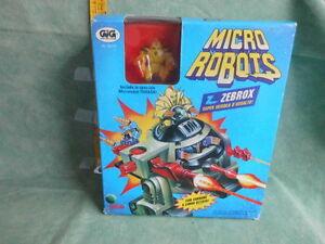 Micro Machines Robots Gig Thrashi Zebrox Jouet Vintage Anni 90