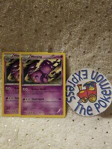 Pokemon-TCG-2x-Weezing-28-124-XY-Fates-Collide-Uncommon-Psychic-English-Mint