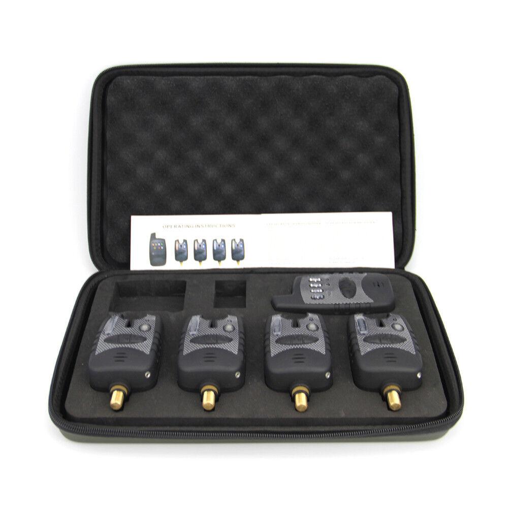 5 pcs Wireless Waterproof bite alarms&Receiver  Run LED  4+1 bite alarm 4+1 set  are doing discount activities