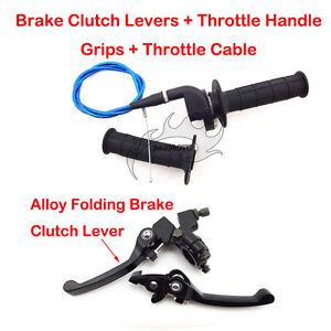 Throttle-Grips-Cable-Brake-Lever-For-90cc-110-125-150-cc-SSR-CRF50-Dirt-Pit-Bike