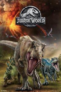 Jurassic-World-Fallen-Kingdom-Running-POSTER-61x91cm-NEW-dinosaurs-t-rex