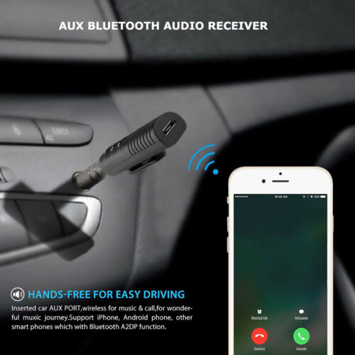 Handsfree Wireless Car BT Receiver 3.5mm AUX Music Stereo Audio Adapter