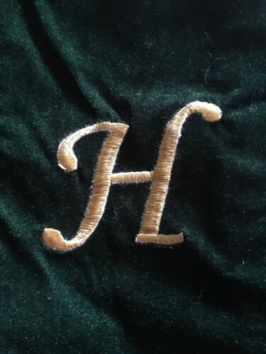 Green Velveteen NEW Christmas Holiday Stocking Personalized Initial Letter H