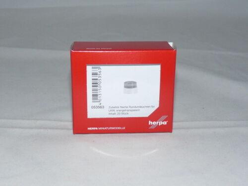 Herpa 053563 accesorios plana flashes de luz para camiones Orange transparente nuevo embalaje original