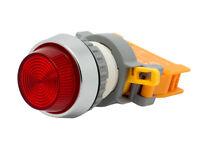 Pln-22a Ati Red Led Pilot Indicator Light 22mm 120v Ac/dc Replaceable Lamp