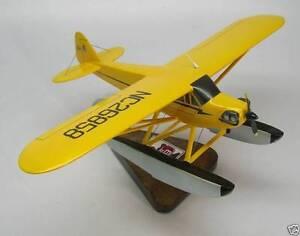 Details about J-3 Piper Cub Float Plane J3 Airplane Desktop Kiln Dry Wood  Model Big New