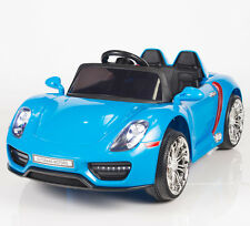 12V Kids Battery Operated Ride On Car w/ RC Remote Control Doors MP3 Tunes Blue