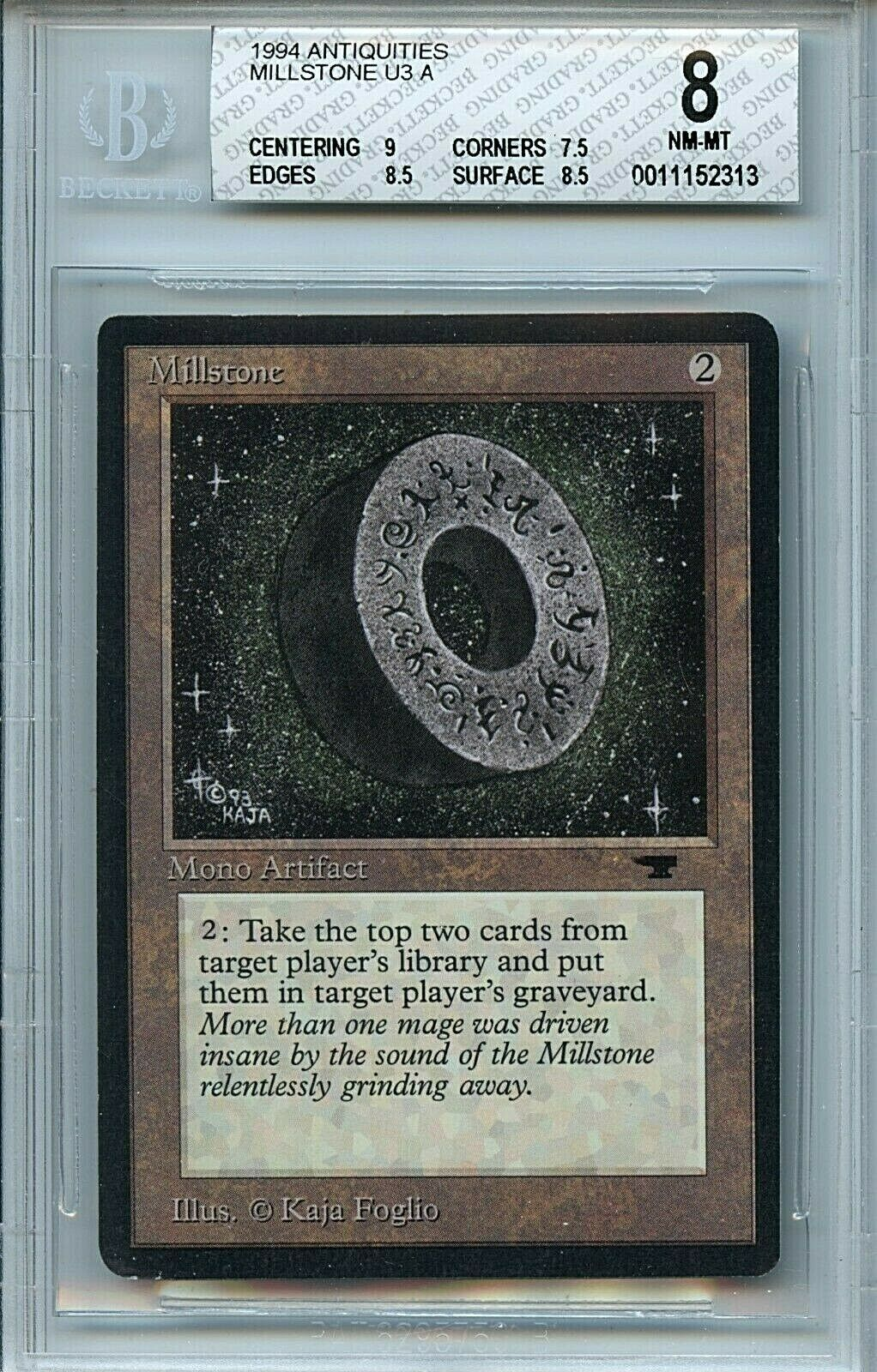 MTG Antiquities Millstone BGS 8.0 (8) NM MT magic card Amricons 2313