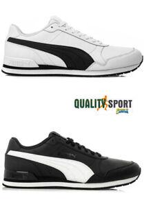 Details zu Puma st Runner Schwarz Weiß Schuhe Herren Sport Turnschuhe 365277 11 13 2019