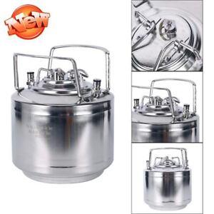 Stainless-Steel-Ball-Lock-Homebrew-Keg-1-6Gal-Draft-Beer-Empty-Tank-Strap-Handle