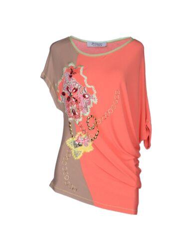 Tg T Maggio 22 Borchie Strass E Terra Arancione shirt 46 8Bwg5q
