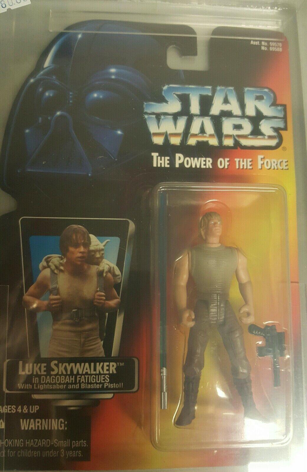 1996 Star Wars AFA Graded POTF2 Luke (Long Saber) 85NM+