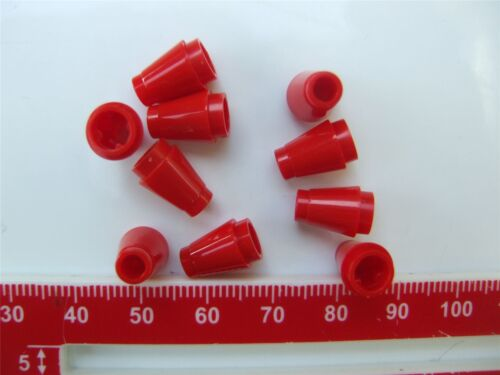 10 x Lego Red Nose cone small 1x1-4529234 Parts /& Pieces