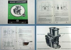 Solex-40-CCI-Doppel-Fallstromvergaser-Betriebsanleitung-Wartung-1969