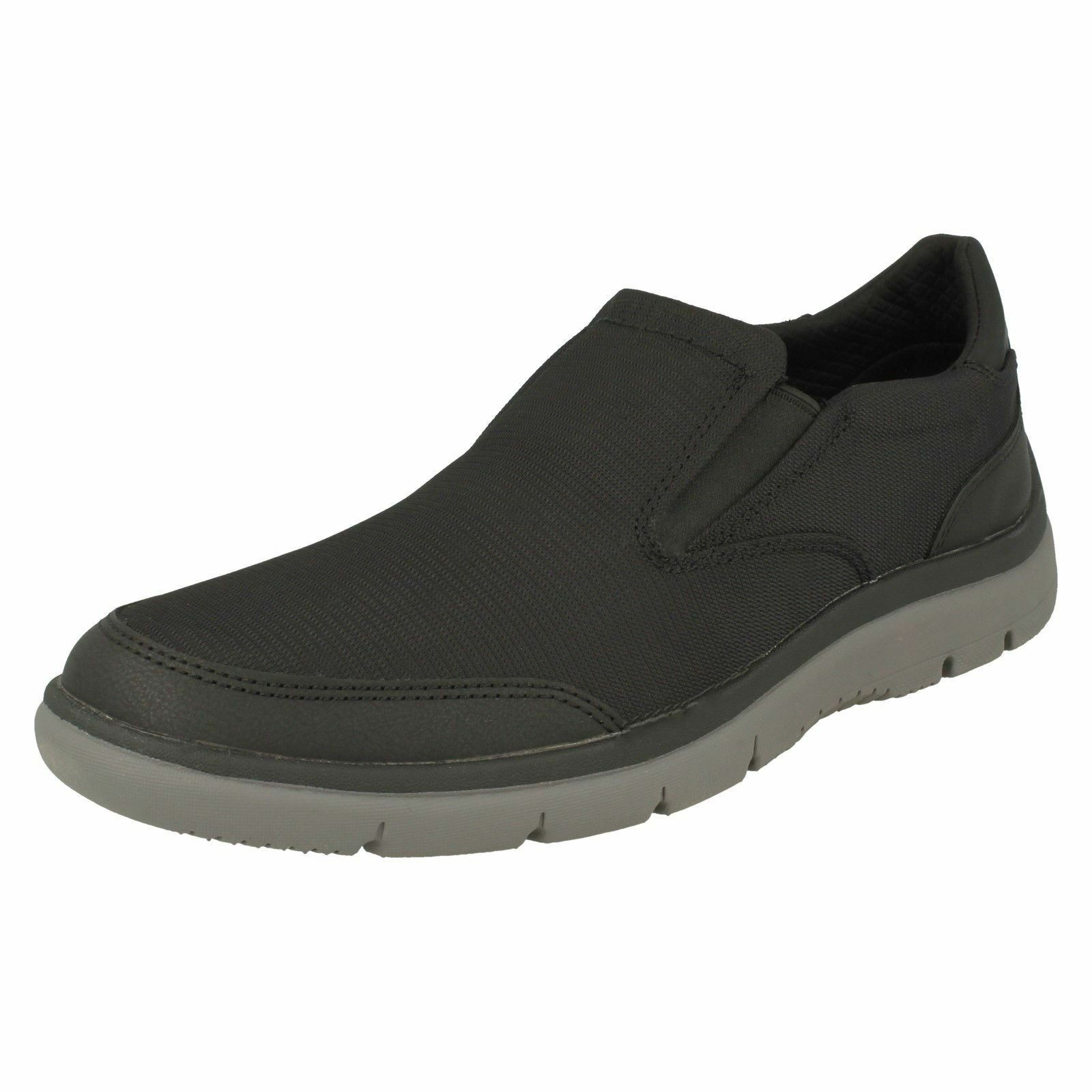 Mens Clarks Casual On Slip On Casual Trainers Tunsil Step 65148a