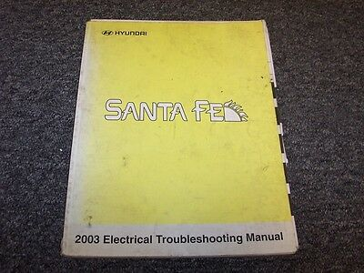 2003 Hyundai Santa Fe Electrical Wiring Diagram Manual GLS ...