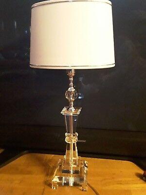 Große Tischlampe Tischleuchter Modernes Design Acryl Heller Glanz