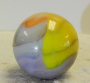 #12943m Colorful Vitro Agate? Shooter Marble .90 Inches *Mint*