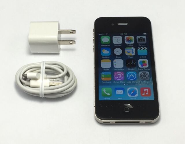 Apple iPhone 4 8GB WiFi Black Verizon Wireless Smartphone *FAST SHIPPING FROM NY