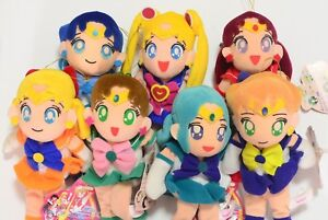 Sailor-Moon-S-1994-Plush-Complete-Set-old-tag-Stuffed-doll-Rare-s01