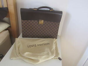 VGC-GENUINE-IN-DUSTBAG-LOUIS-VUITTON-BROWN-LEATHER-BRIEFCASE