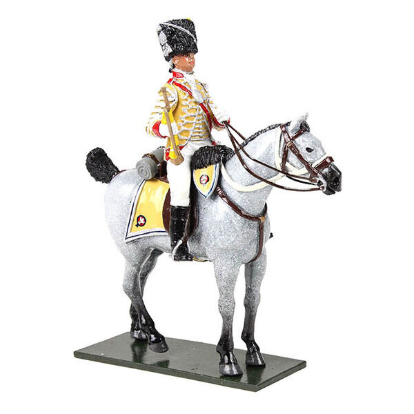 W Britain 47059 - British 10th Light Dragoons Trumpeter Mounted, 1795 - Glossy