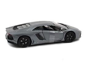 Lamborghini Aventador LP 700-4 SILVER GREY by NewRay 1:24 ... on silver audi black, silver jeep wrangler black, silver toyota sienna black, silver range rover evoque black,