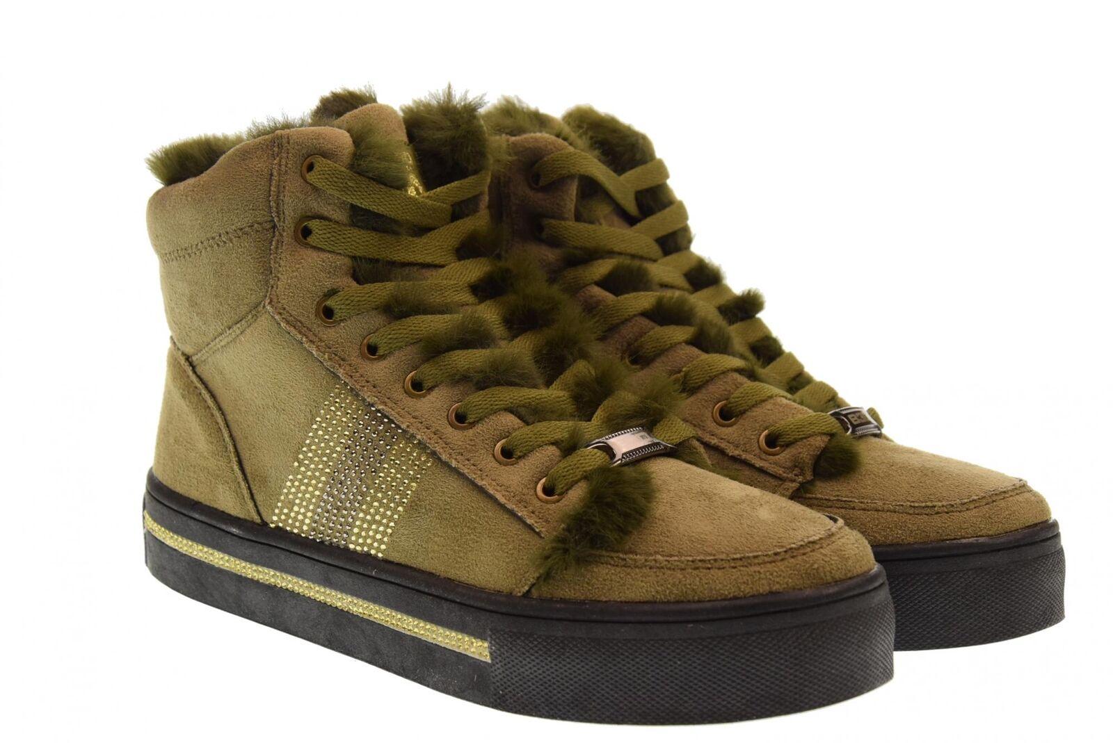 B3d Chaussures A18u Chaussures Femme Haute Baskets 41542 kaki