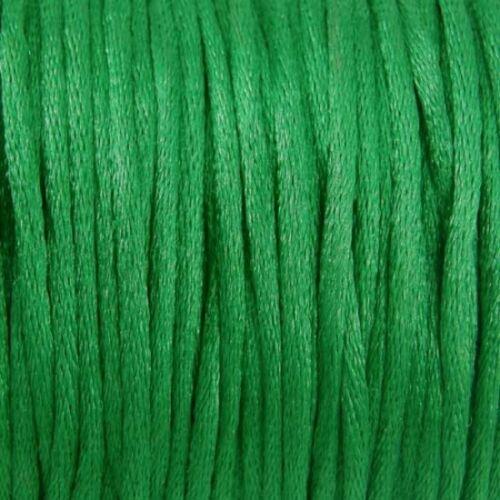 Braiding Cord 2 mm Thickness Macramé Thread 10m Silky Satin Rattail Kumihimo