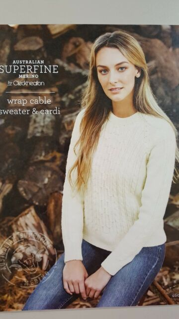 0a9b96582 Cleckheaton Pattern  460 Wrap Cable Sweater   Cardi to Knit ...