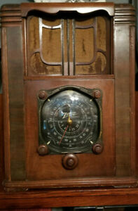 RARE-1930-039-s-Zenith-Black-Dial-Model-Tombstone-Radio-All-Original-Working