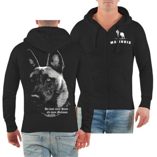 Capucha sweatjacke malinois-tienes un perro.. raza pastor belga